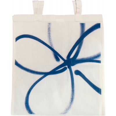 Forget-me-not dark blue tote bag